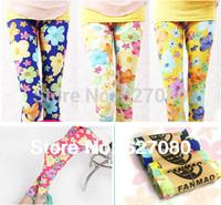 2-10Y Children's clothing 2014 new pants milk silk extreme skin-friendly colorful pants children leggings girls