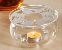 Sale!!Heat resistant glass candle warmer base for tea pot & coffee pot,tea set heating base + metal heat conduction pad
