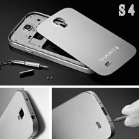 Ultrathin Matte Aluminum Case for Samsung Galaxy S4 I9500 Luxury Style Silver Gold Black Pink Blue With Screw YOTONE