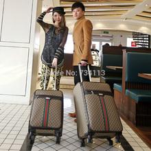 europa design classico 2015 bagagli stile set top marca valigia trolley unisex 24 pollici marrone espandibile trolley filatore(China (Mainland))