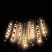 Hot New 30CM tubo Lluvia de meteoros Lluvia ligera de la secuencia del LED para la Navidad Jardín boda del árbol de luces de la decoración 100-240V / EU / US Plug B6(China (Mainland))