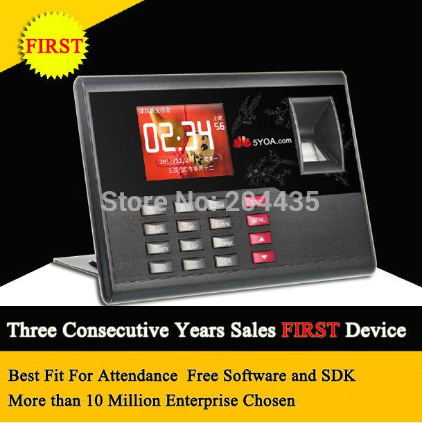 Biometric Fingerprint Time Clock Recorder Attendance Employee Digital Machine Electronic Standalone Punch Card ID Reader English(China (Mainland))