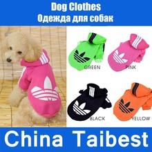 Pet Cat Dog Clothes Clothing Sweater Warm Coat Shirt Dress(China (Mainland))
