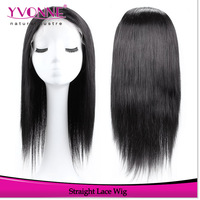 Free Shipping Natural Straight Brazilian Lace Front Wigs,100% Human Hair Wig,Women's Wig,Color #1B