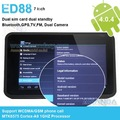 Post Free Shipping!! 7inch Capacitive Touch Android 4.0.4 Support GSM/WCDMA Phone Call,3G, Bluetooth, GPS MTK6575 Tablet PC ED88