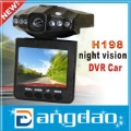 H198 car dvr car camera with night vision extra Russian manual by HKpost or Singapore Post