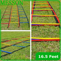 MESSON Top Quality 16.5 Feet long Soccer Training Speed Agility Ladder + Carry Bag