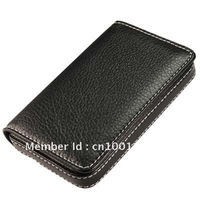 High Quality Black Leatherette Business Name Cards Holder Credit Card ID Case Box . Free Shipping!