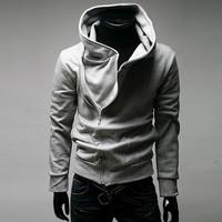 2015 new arrival promotion fashion sports suit tracksuits korean winter sweatshirts zipper hoodies clothing mens coat M-XXXL