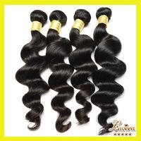 Brazilian virgin hair extension loose culry 3pcs or 4pcs brazilian loose wave human hair weave Lavera hair products