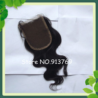 Free Shipping Grade AAAA Virgin Brazilian Remy Hair Body Wave Natural Color Lace Top Closure 3.5*4 inch Free Parting