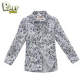 Freeshipping Spring Autumn Black pink white Children Boy Kids baby  long sleeve Print  t shirt  clothing cloth top LCQS0301