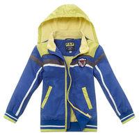 Freeshipping Spring Autumn Gray blue Children Child Boy Kids Baby Dark long sleeve Hoody hooded Coat jacket outwear PCQS09P03