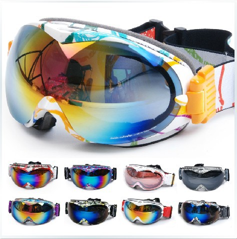 2013 new brand dual lens ski goggle glasses /for all day and night/UV- protection snow mask sled skate snowboard glasses goggles(China (Mainland))
