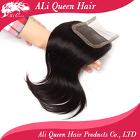 FREE SHIPPING ali queen hair products brazilian lace closure straight 8-20inch 4x4 swiss lace 6A natural black human hair