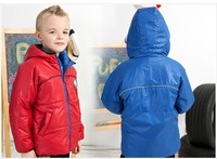 Freeshipping winter red yellow Children Child boy Kids baby hoody hooded both sides put coat jacket outwear top  PCDS13P07