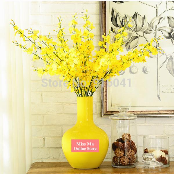 10pcs Lot Yellow Little Dancing Lady Orchids Decorative