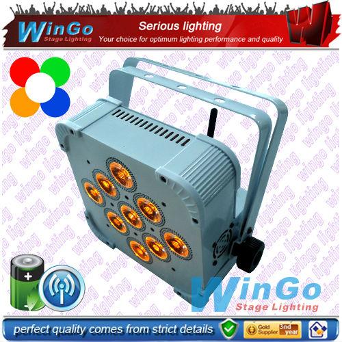 WG-G3039A RGBAW battery power wireless DMX uplights / 4 pcs as a lot(China (Mainland))