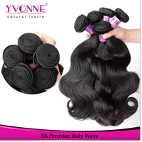 Grade 5A Peruvian Virgin Hair 4Pcs lot Mix Length,Body Wave,12-28Inches,Natural Color,Free and Fast Shipping