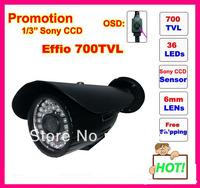 Sony Effio 700TVL 36 LEDs with OSD menu IR 30m outdoor waterproof camera + Bracket. Free Shipping