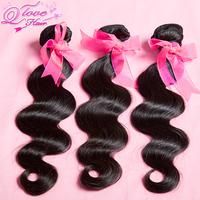 Q Love Hair,4 bundles lot mixed brazilian virgin hair gaga hair body wave,100% unprocessed human hair Free shipping