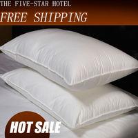 Pillow/ Throw pillows /100% Feather Silk/light Pillow/Zero Pressure Memory Pillow Neck Health / Blue textile bedding/ C002