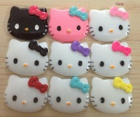 Flatback Hello Kitty Cabochons Resin Deco 27*22mm Mixed Colors