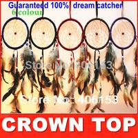 HOT!!! Guaranteed 100% beautiful dream catcher  6 piece/lot ,6 colours mixed , 6 pcs in opp bag  Free shipping,  Diameter :11cm