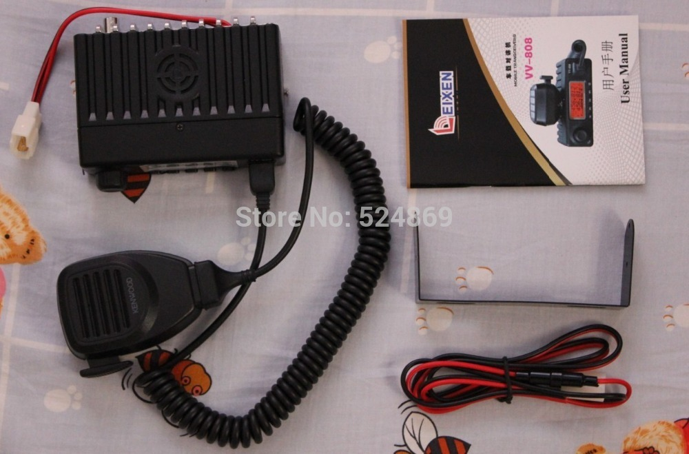 VV-808SU two way radio mobile transceiver walkie talkie FM radio Amateur Ham radio Srambler CT DTMF PTTID 1750 Hz burst