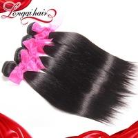 Top Quality Brazilian Beauty Hair 3 pcs 6A Brazilian Virgin Hair Straight Extension Wholesale Human Hair Weaves Free Shipping