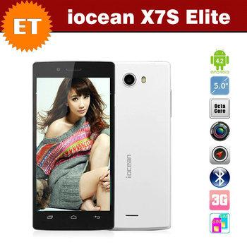 Original iocean X7S X7 S 5 inch FHD 1920x1080 Octa Core Smartphone MTK6592 1.7GHz  Android 4.2 GPS Multi-language Bluetooth