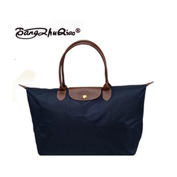 2014 new fashion women messenger bags folding shoulder women's leather Handbags dumplings portable female travel Tote 06 Large