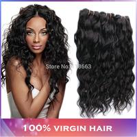 Peruvian Virgin Hair Water Wave Curly 3pcs 100% Unprocessed Human Hair Weave Modern Show Hair Products Virgin Peruvian Hair