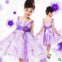 Retail 2014 summer girls dress princess baby clothes kids dress children dress size for 3-12 years AQZ016