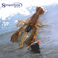 Sougayilang 70pcs/lot 5cm Gray Shrimp Lifelike Crap Artificial Soft Bait Fishing Tackle Tools Fishing Lure Soft Baits