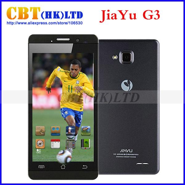 Original JIAYU G3C G3 Mobile Phone WCDMA 3G 3000MAH MTK6582 Android 4.5'' Gorilla Glass Jiayu G3S / G3T Black In Stock !(Hong Kong)
