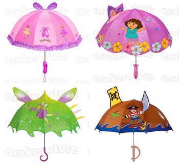 Free Shipping  Cartoon Children Umbrella kidorable Rain Christmas Gift Kids boy girl Birthday Fashion Ballenine Princess Dora