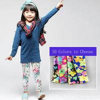 Retail summer autumn girl legging children flower leggings free shipping,1158