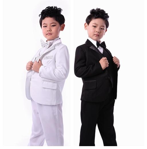 freeshipping factory directly selling boys tuxedo suit for wedding child blazer clothing set 6pcs:coat+vest+shirt+tie+pants+belt(China (Mainland))