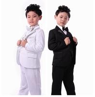 freeshipping high quality baby boys suit for wedding party tuxedo child blazer clothing set 6pcs:coat+vest+shirt+tie+pants+belt