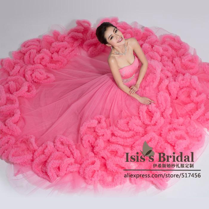 Blue plus size puffy ball gown wedding dress 2015 bridal dress china