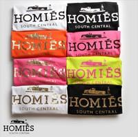 2014 New Fashion Punk Women T Shirt Bronzing Homies Printed UnisexT-shirts Summer Short Sleeve T shirt Lovers' T shirt