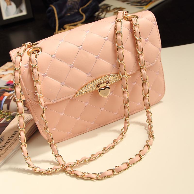 Hot selling evening bag Peach Heart women handbag chain shoulder bag brand women messenger bags fashion women's bag(China (Mainland))