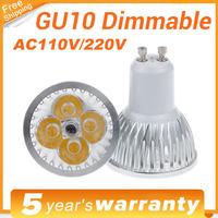 LED Lamp Dimmable GU10 LED 3X3W 4X3W 9W 12W Bulb Light COB Spotlight High Power CREE Light LED Bulbs Lamp Downlight Spot lights
