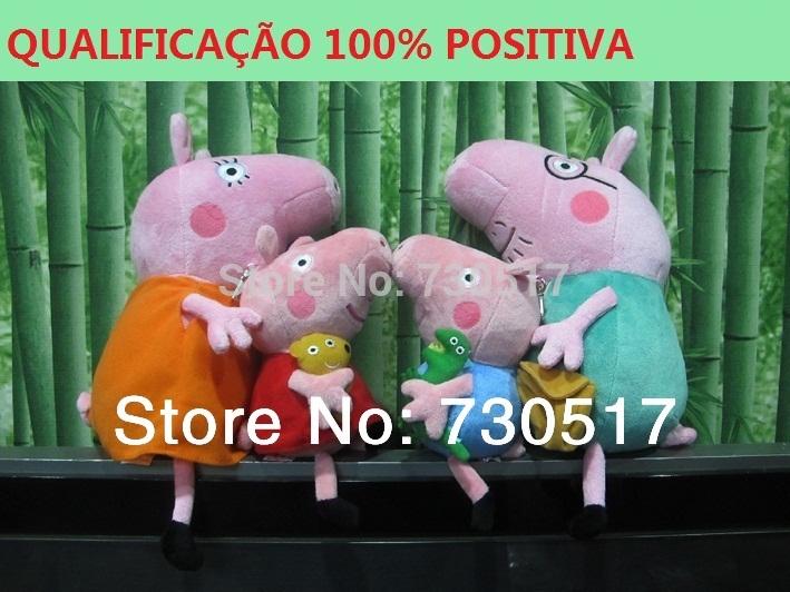 4Pcs/Lot Peppa George Daddy Mummy Pig Stuffed Animals Family Set Peppa Pig Plush Toys Birthday Gift Kids Girls Brinquedos KF377(China (Mainland))