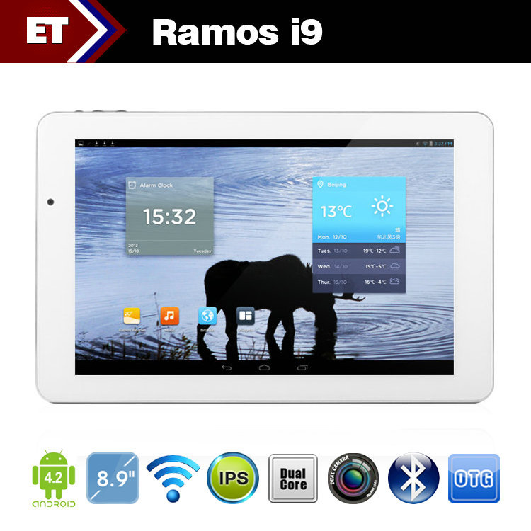 Ramos i9 tablet pc 8.9 inch FHD 1920x1200 Intel Atom Z2580 2GHz 2GB RAM 16GB 5.0MP camera GPS Bluetooth(China (Mainland))