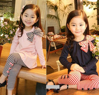 2014 New autumn children clothing suits ,girls clothes sets,child cotton sportswear set, girl casual suit, kids fashion wear