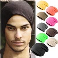 Wholesale New Fashion Winter Unisex Solid Color Elastic Hip Hop Cap Beanie Hat Slouch 9 Colors One Size b15 18280