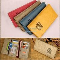 New Arrival Lady Women leather handbags Small Bag PU Card Holders Mini bags Retro Clutch Long Purse Wallet B6 SV003740