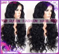 Custom made loose wave 150% density  brazilian virgin hair 16inches  full lace wig